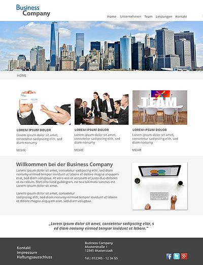 Webdesign Business Design Template